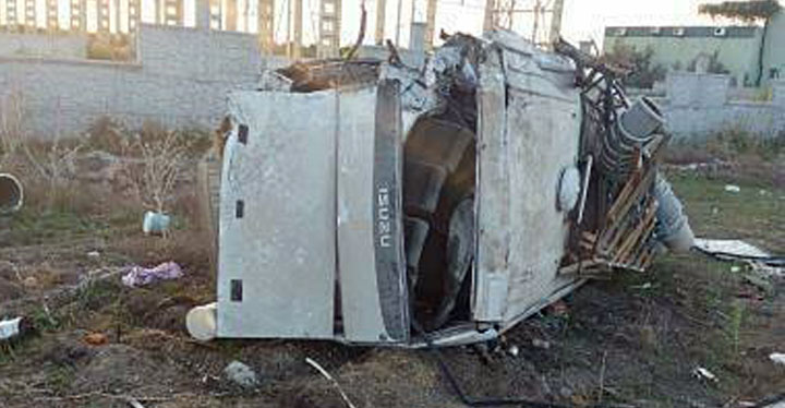 Tarım işçilerini taşıyan minibüs kaza yaptı; 1 ölü, 26 yaralı