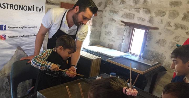 Unesco Hatay Gastronomi Evi Minik Sanatçılarını Ağırladı