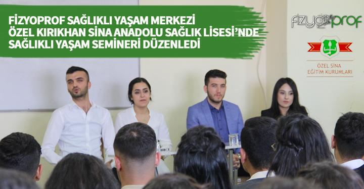 Sina Sağlık Lisesi öğrencileri FizyoProf ile bilgilendi