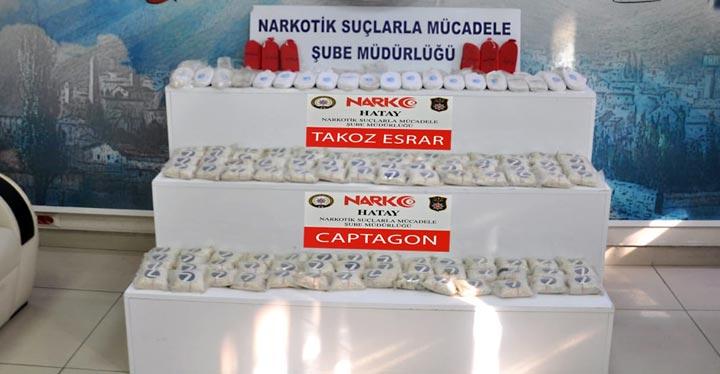 Su termosu içerisine gizlenmiş 43 Bin adet uyuşturucu hap ele geçirildi