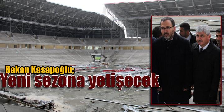 Spor Bakanı Kasapoğlu'ndan Hatay Stadyumunda inceleme
