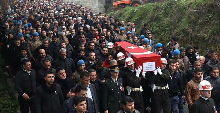 İdlip Şehidi Emin Yıldırım son yolculuğuna uğurlandı