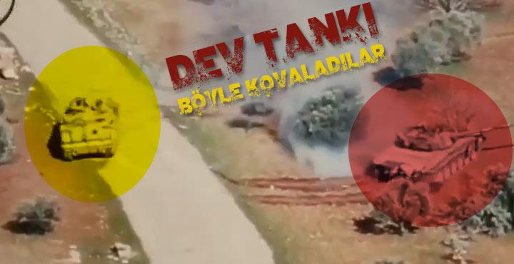 Dev tankı ZPT ile kovaladılar