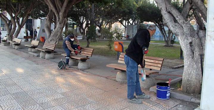 İskenderun Şehitler Parkı yenileniyor