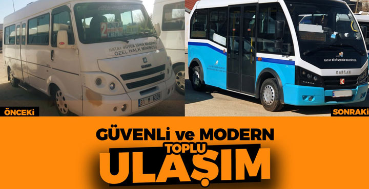 Kırıkhan'da şehir içi dolmuşlar değişiyor