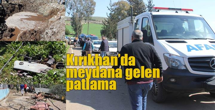 Suriye'den Kırıkhan'a bir cisim düştü