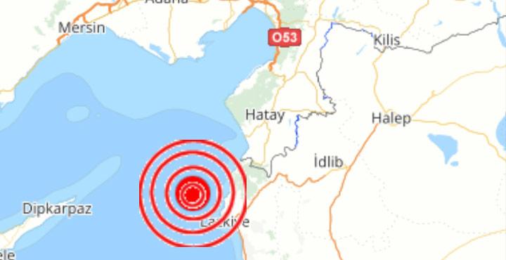 Yayladağı 2.7 büyüklüğünde deprem oldu