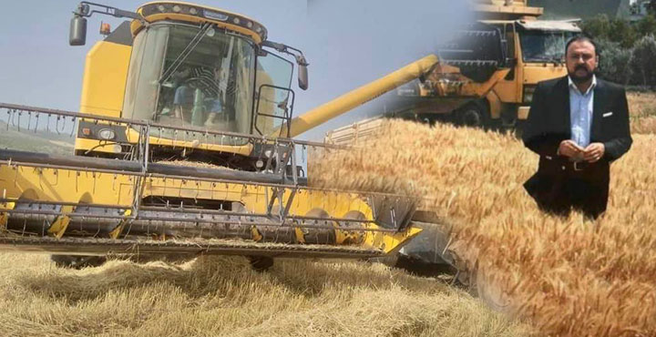 Amik Ovasında Sezonun İlk Buğday Hasadı Başladı