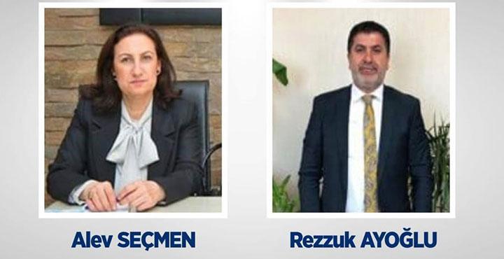 Seçmen ve Ayoğlu Başkan Yardımcılığına Atandı