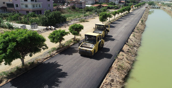 Yaşar Kemal Caddesi Asfaltlanıyor