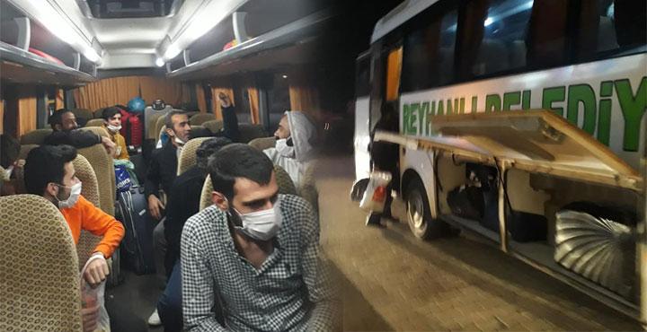 Yurtdışından gelen 18 vatandaşımız Reyhanlı'ya Ulaştı