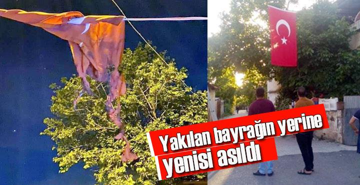 Erzin'de Türk bayrağına hain saldırı