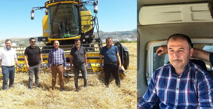 İl Tarım Müdürü Biçerdöver ile Buğday Hasadı Yaptı