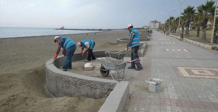 Gözcüler, Gülcihan ve Karaağaç Plajlarında Yenileme Çalışması