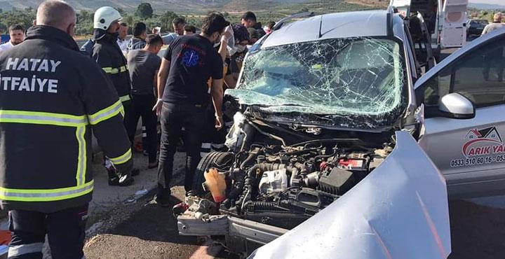 Hassa'da Trafik Kazası; 3 Yaralı