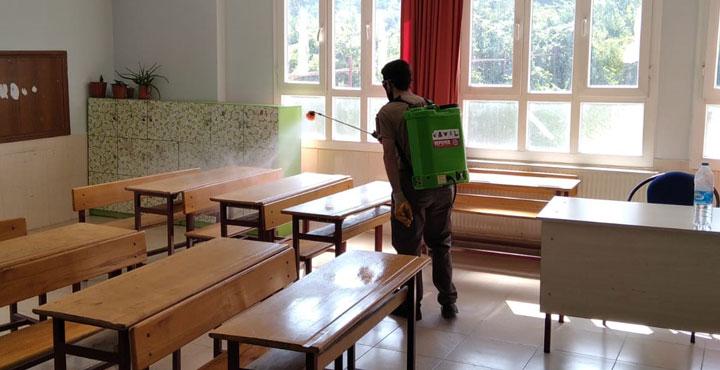 LGS Öncesi Tüm Okullar Dezenfekte Ediliyor