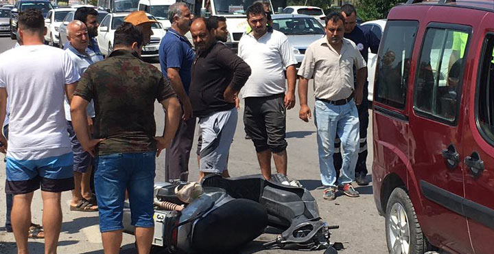 Kaza yapan motorsiklet sürücüsü hayatını kaybetti