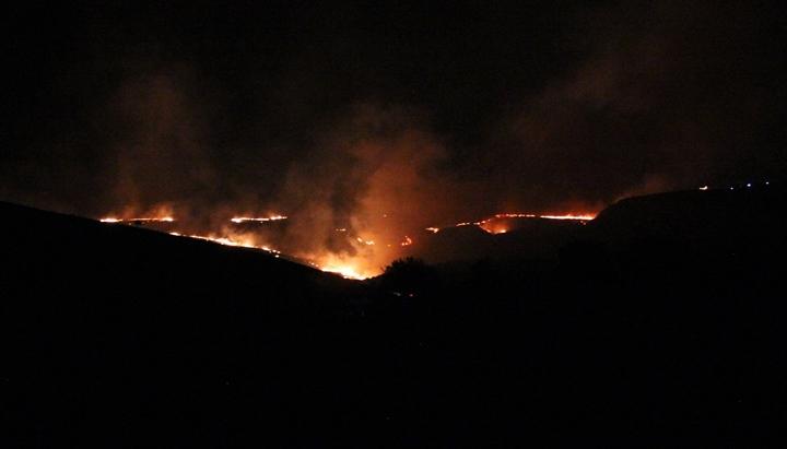 Makilikte çıkan yangında 250 dönüm alan zarar gördü