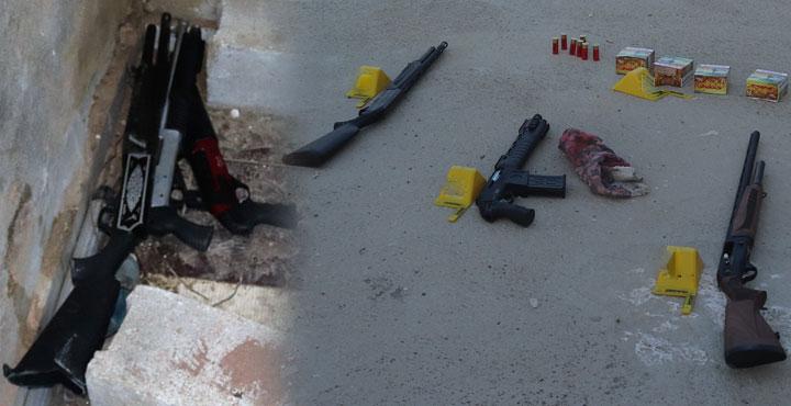 9 Adet Av Tüfeği Ele Geçirildi