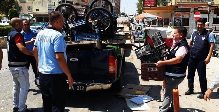 Polis ve zabıtadan ortak seyyar satıcı operasyonu