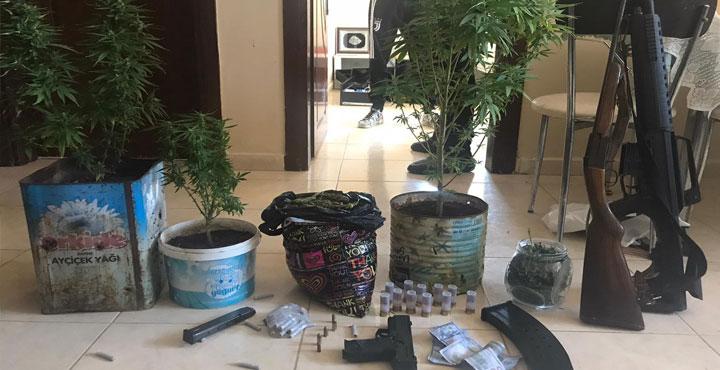 Hatay'da Uyuşturucu ve Ruhsatsız Silah Ele Geçirildi
