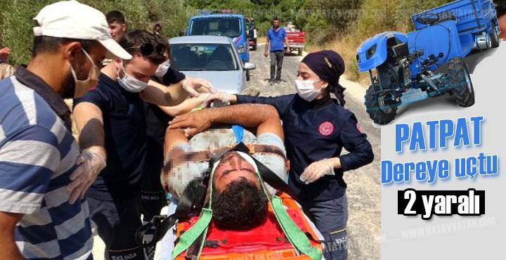 Patpat dereye uçtu; 1'i ağır 2 kişi yaralı
