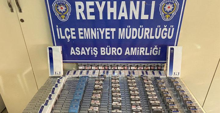 Reyhanlı'da 1240 Paket Kaçak Sigara Ele Geçirildi