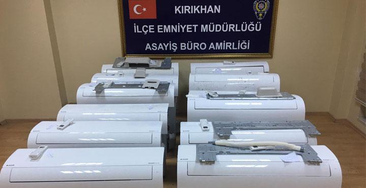 TİGEM'e ait Çalıntı Klimalar Kırıkhan'da Bulundu