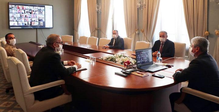Hatay'da Covid-19 ile mücadele toplantısı yapıldı
