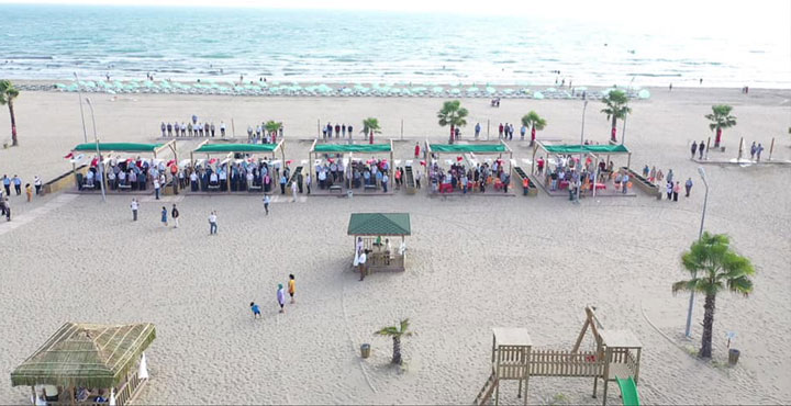 Burnaz Plajının Açılışı Gerçekleştirildi