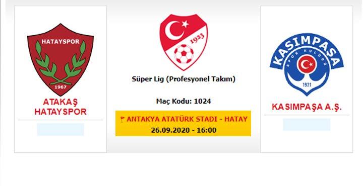 3. Hafta oynanacak Kasımpaşa maçı Antakya'da