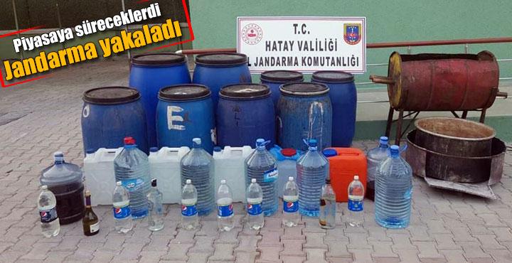 Arsuz'da kaçak içki operasyonu; 410 litre içki ele geçirildi