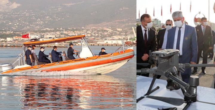 Hayırseverlerin bağışladığı dron ve botlar Sahil Güvenliğe teslim edildi