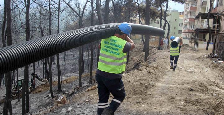 Belen'deki yangın bölgesine yeni altyapı