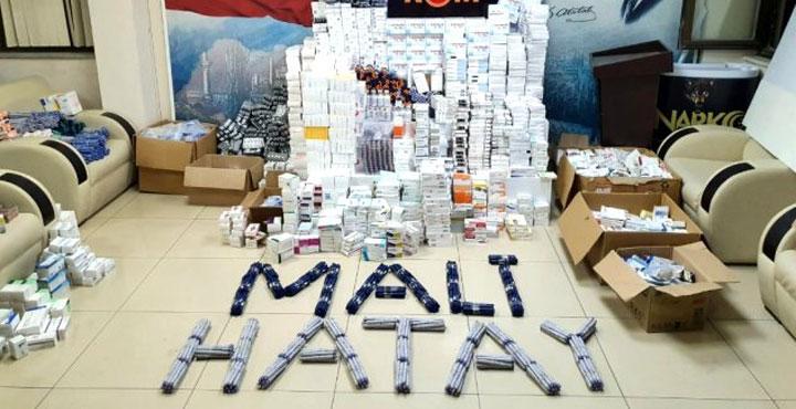 Hatay'da barkodları kesilmiş 4 bin ilaç ele geçirildi