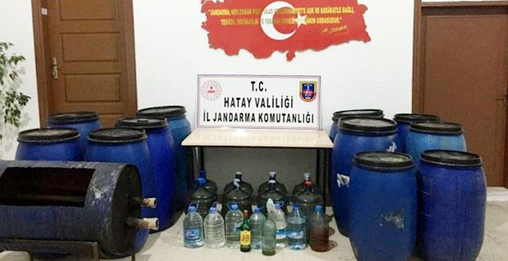 Arsuz'da kaçak içki operasyonu