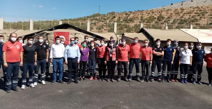Sınırda görev yapan sağlık ekiplerine ziyaret