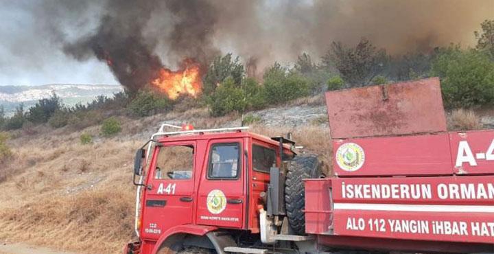 İskenderun'da yangın nedeniyle evler tahliye ediliyor