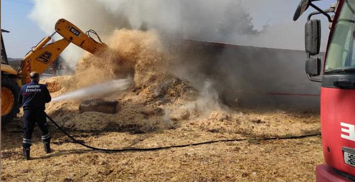 Hatay'da Saman Yangını Söndürüldü