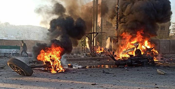 Afrin'de bombalı araç patladı; 2 ölü, 17 yaralı