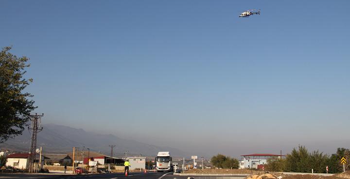 Hatay'da hava destekli trafik denetimi yapıldı