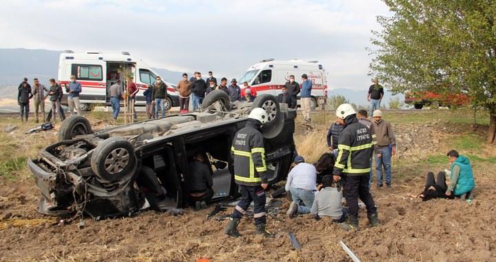 Hatay'da trafik kazası; 10 yaralı