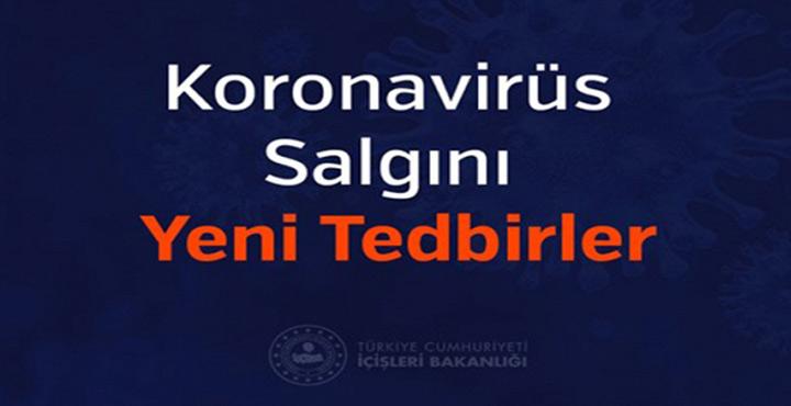 Hatay Valiliği Koronavirüs Salgını Yeni Tedbirlerini yayınladı