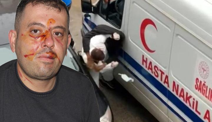 Yol verme kavgasında ambulans şoförü darp edildi