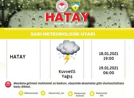 Dikkat; Meteorolijiden Sarı Uyarı!