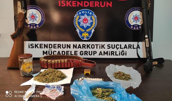 4 Ayrı Adrese Yapılan Baskında Uyuşturucu ve Silah Ele Geçirildi