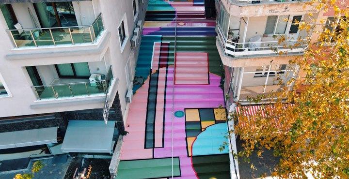 Defne'de merdivenli sokak yapımı