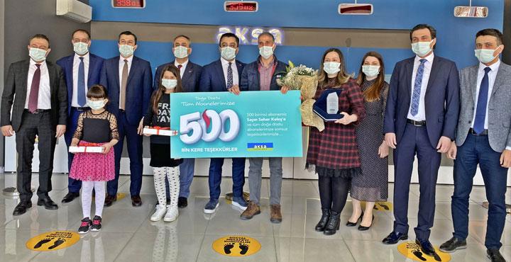 Aksa Doğalgaz Çukurova'da 500 Bin Aboneye Ulaştı