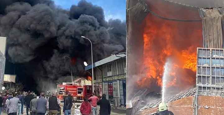 Antakya Küçük Sanayi Sitesinde Korkutan Yangın