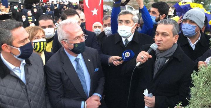 Fenerbahçe yöneticileri Belen'de fidan dikti
